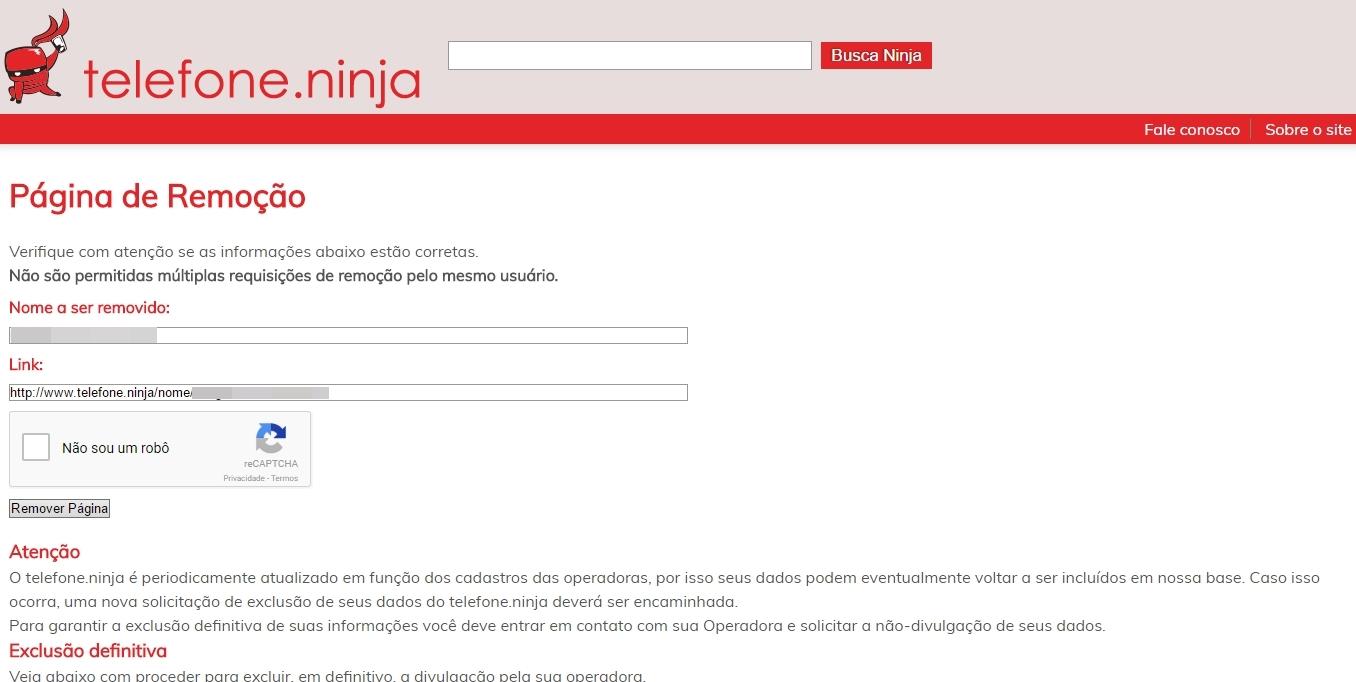 Site divulga e-mails, endereços físicos e números de telefone — Telefone.ninja