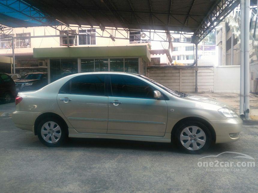 Toyota Corolla Altis 2004 E 1 6 In กรุงเทพและปริมณฑล