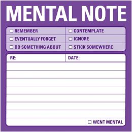Mental Notes Sticky Note 100 Sheets