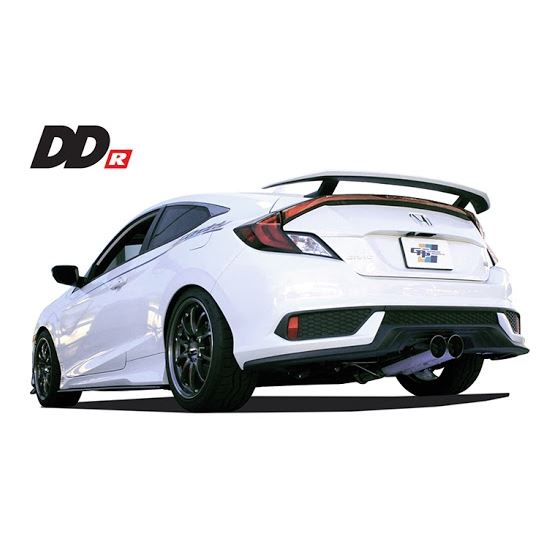 greddy 2017 honda civic si coupe dd r resonated exhaust