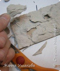Из яичных лотков. Декоративные КАМНИ для отделки стен (18) (246x288, 53Kb)