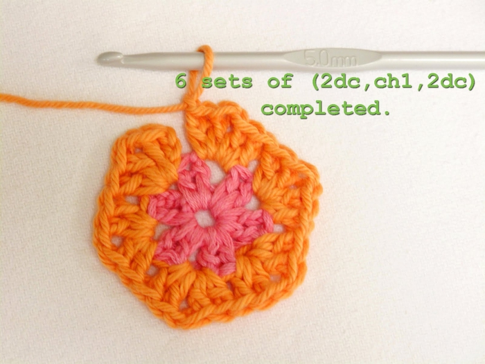 Flower crochet piece AFRICAN FLOWER for knitting toys (27) (700x525, 225Kb)