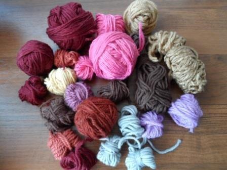 Вязание коврика из остатков пряжи