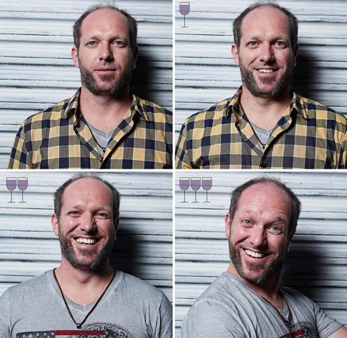 Необычные фото   Как люди выглядят после 1, 2, и 3 бокалов вина