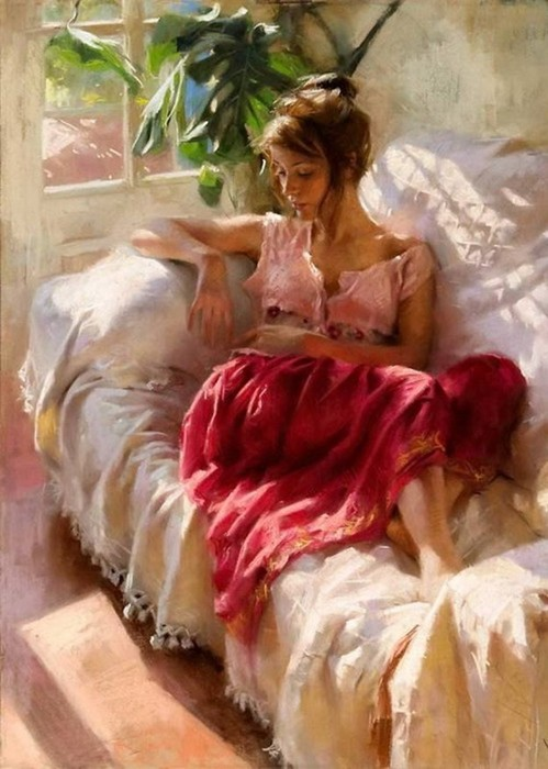 Очаровательные женщины на картинах Висенте Ромеро Редондо