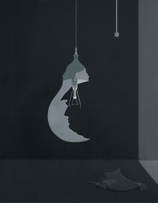Концептуальные иллюстрации от итальянца   вызов интеллектуалам
