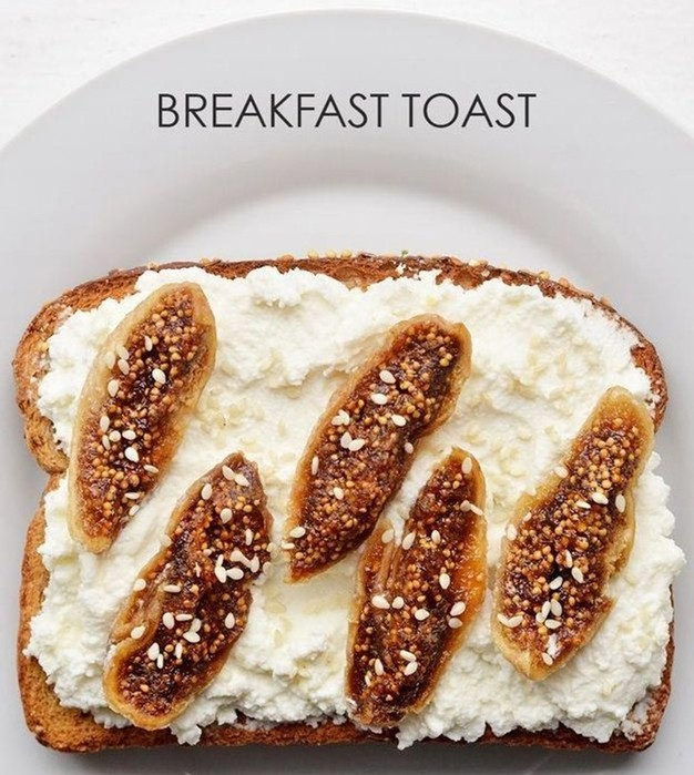 Варианты вкусных тостов на завтрак