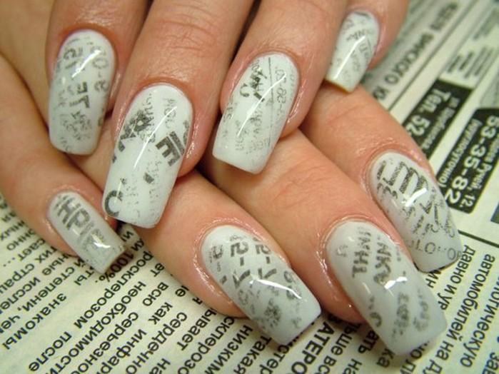 Газетный маникюр в домашних условиях (газетный принт на ногтях)