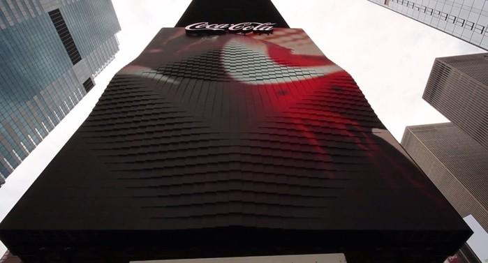 Первый в мире трёхмерный рекламный билборд Coca Cola попал в Книгу рекордов Гиннесса