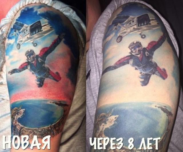 Как могут со временем меняться татуировки