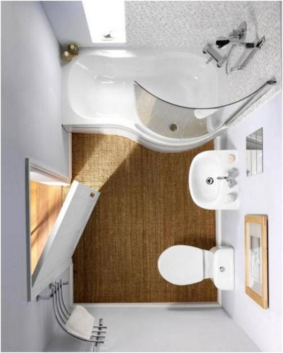Малогабаритные ванные комнаты: Идеи, которые помогут организовать крошечное помещение