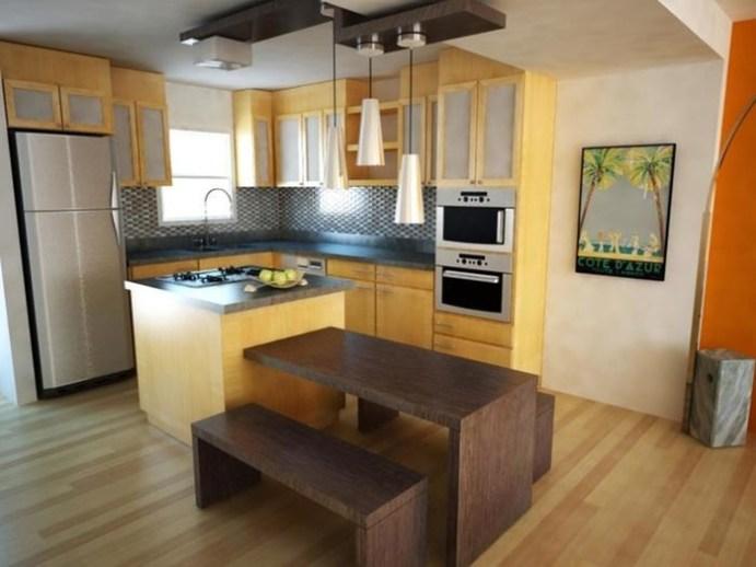Как сделать остров на маленькой кухне