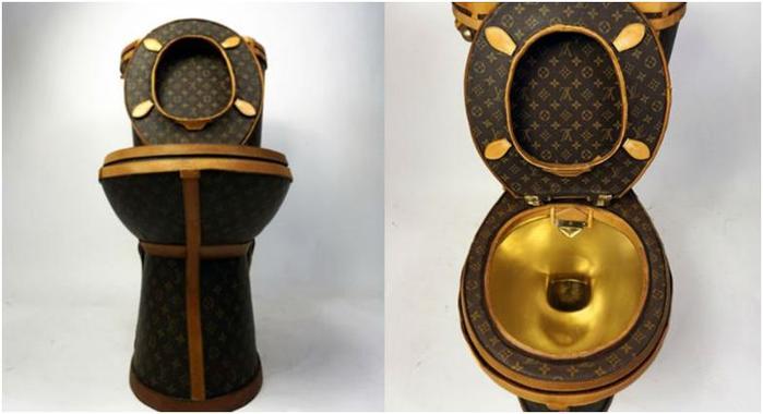 В США выставлен на продажу «брендовый» золотой унитаз