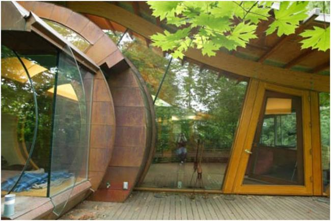 Лесная резиденция в Портленде— необычный замаскированный дом