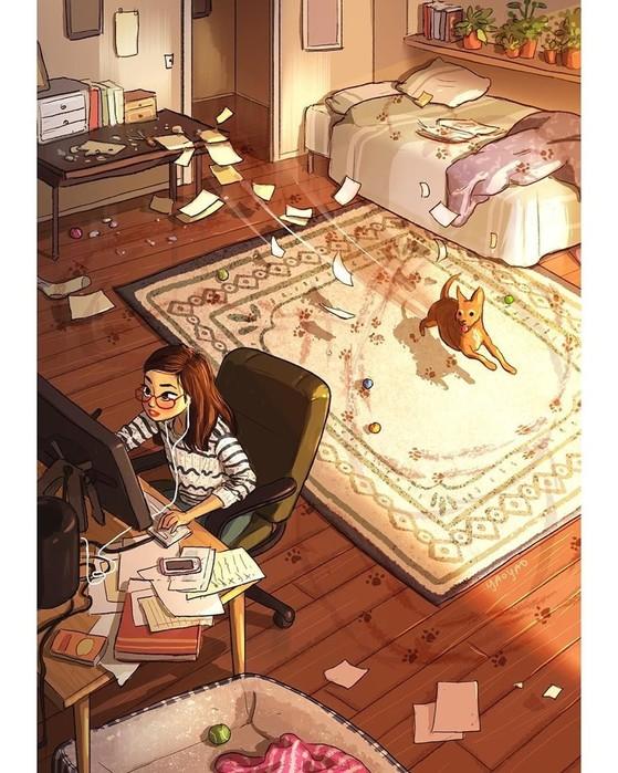 Самая приятная сторона одиночества: 20иллюстраций о независимой жизни