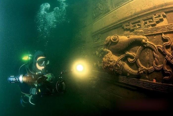 Вода озеро хранит секреты древних затонувших городов