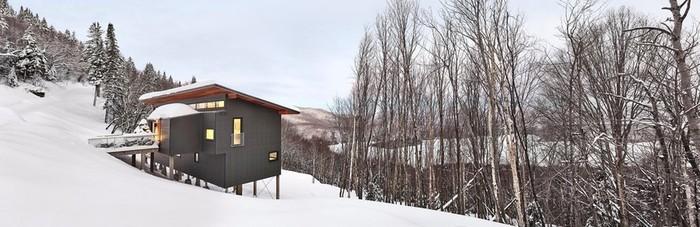 Прекрасное горное шале в Квебеке, Канада
