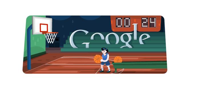 Первый анимированный дудлик и архив картинок Google