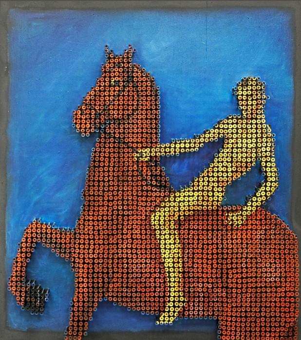 Художник Марат Наби «пишет» необычные картины из шурупов