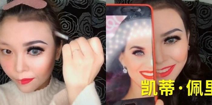 Китайская визажистка превращается в западных знаменитостей
