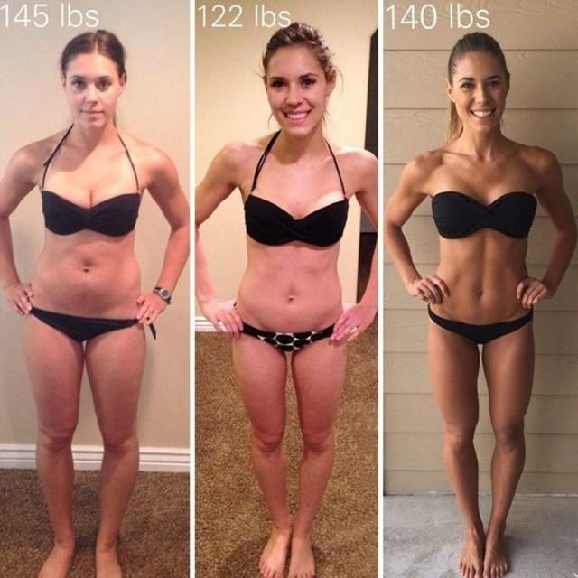 Фотографии девушек с одним весом, но разными формами