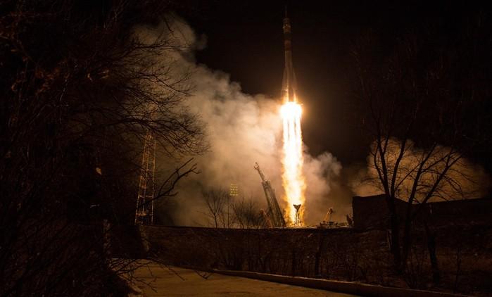 Старт российского корабля «Союз МС 08» для полета на МКС