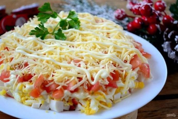 Лучший салат с крабовыми палочками