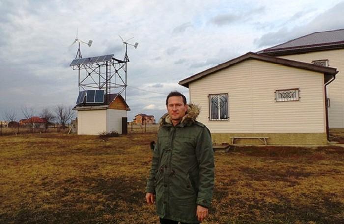 Житель Кубани создал автономный дом и полностью отказался от электросетей