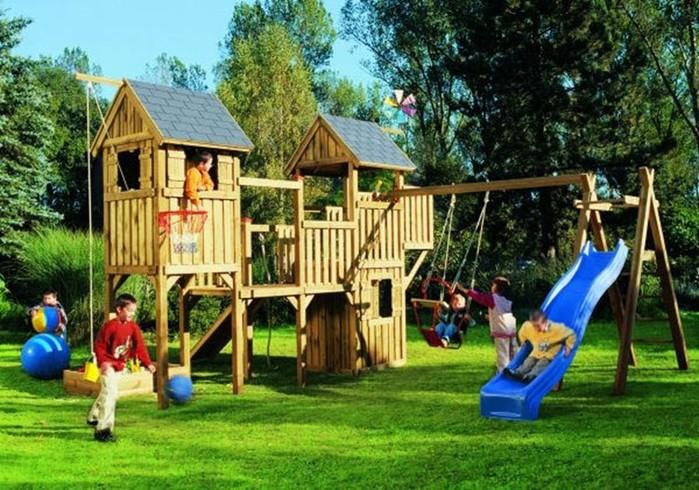 Детская площадка в саду: как ее сделать