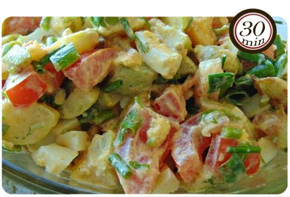 Салат «Угоди свекрови!» с жареными кабачками