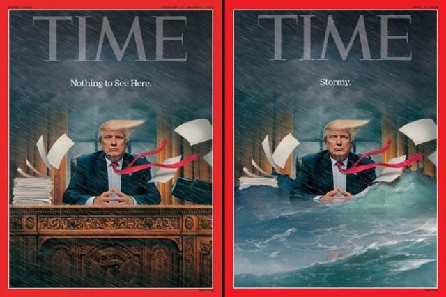 Тонущий Трамп наобложке нового номера «Тайм»