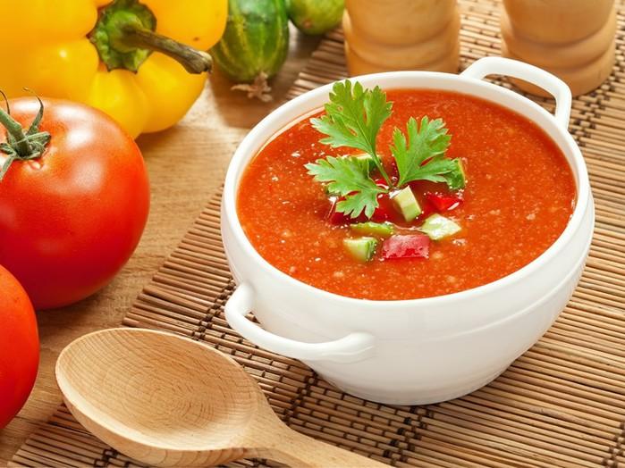 Рецепт супа «гаспачо» из овощей и зелени
