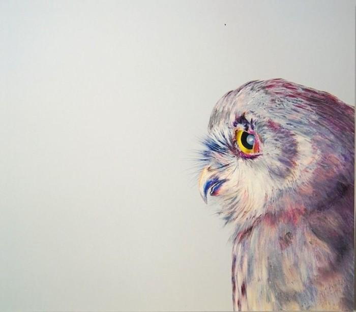 Джон Пусатери и его фотореализм: красивая и почти реальная сова!