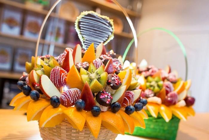 Оформление фруктового букета самостоятельно: этапы работы