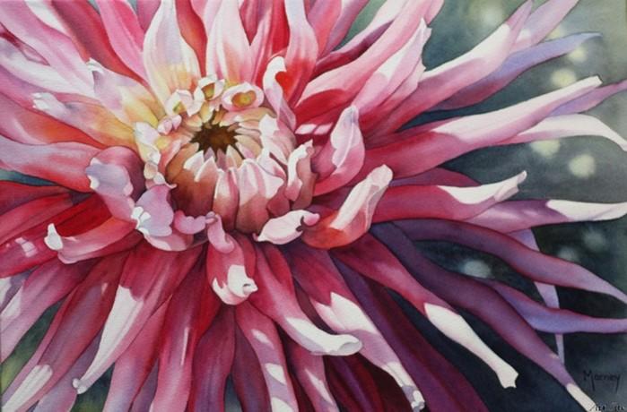 Эмоциональные цветочные работы художницы Марни Уорд