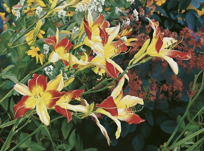 Цветочные пейзажи художницы ПатрисПрокопио