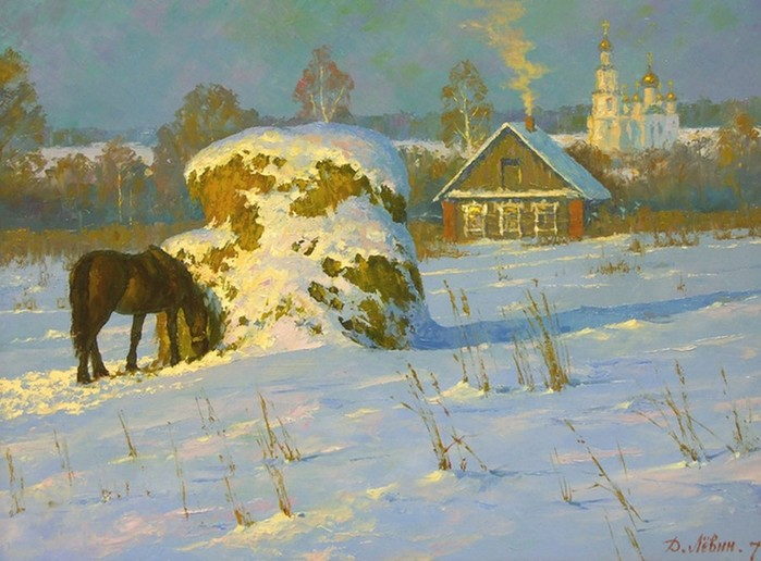 Современный российский пейзаж в картинах Д.И. Лёвина