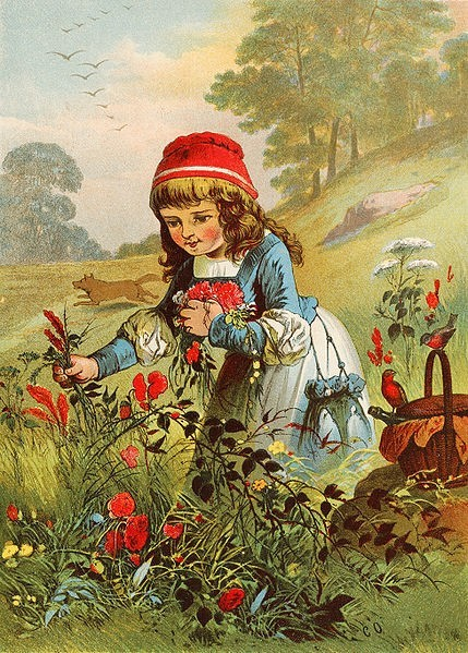 Little Red Riding Hood, illustration by Carl Offterdinger