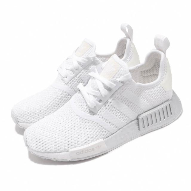 【adidas 愛迪達】休閒鞋 NMD_R1 W 襪套 女鞋 愛迪達 三葉草 流行 Boost緩震 穿搭 白銀(FU9350)