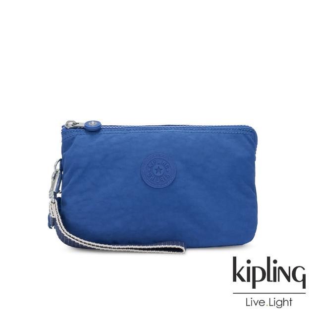 【KIPLING】經典海洋藍多層配件包-CREATIVITY XL