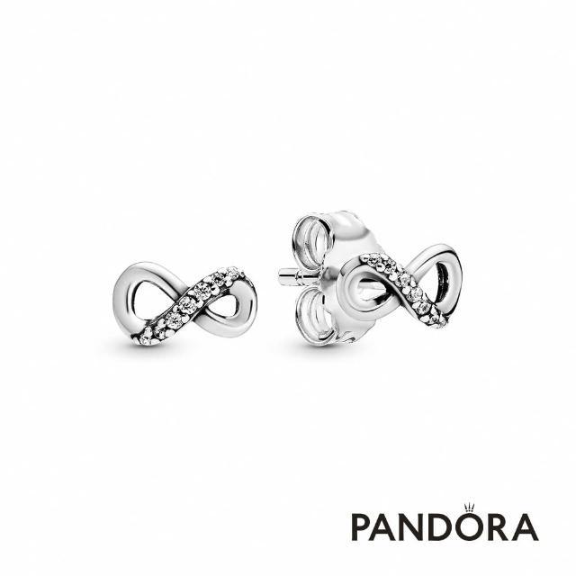【Pandora官方直營】無限璀璨針式耳環