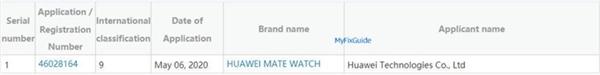 运行鸿蒙OS?华为Mate Watch曝光:与Mate 40同台发布