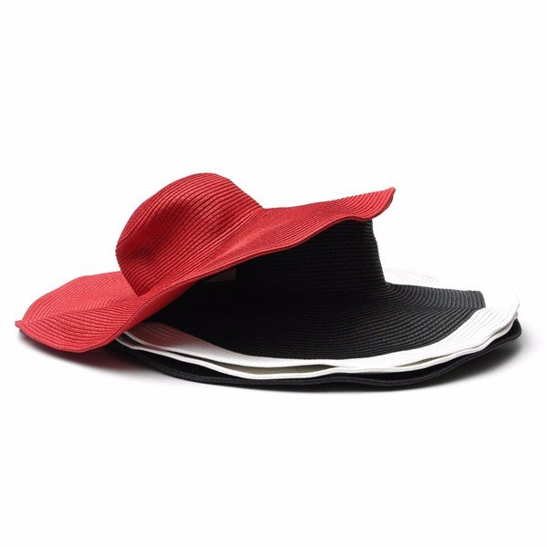 Women Wide Large Brim Beach Sun Hat Summer Visor Straw Cap