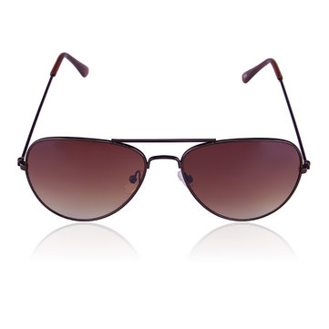 Men Women UV 400 Metal Frame Sunglasses Frog Mirrors