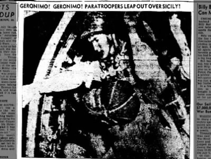 Geronimo! Paratroopers leap out over Sicily