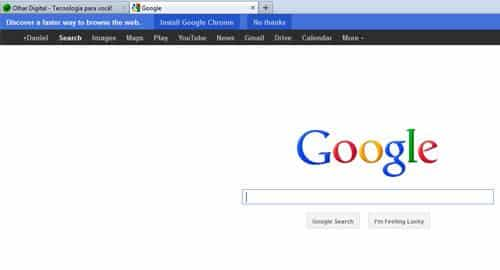 Google faz propaganda no Firefox