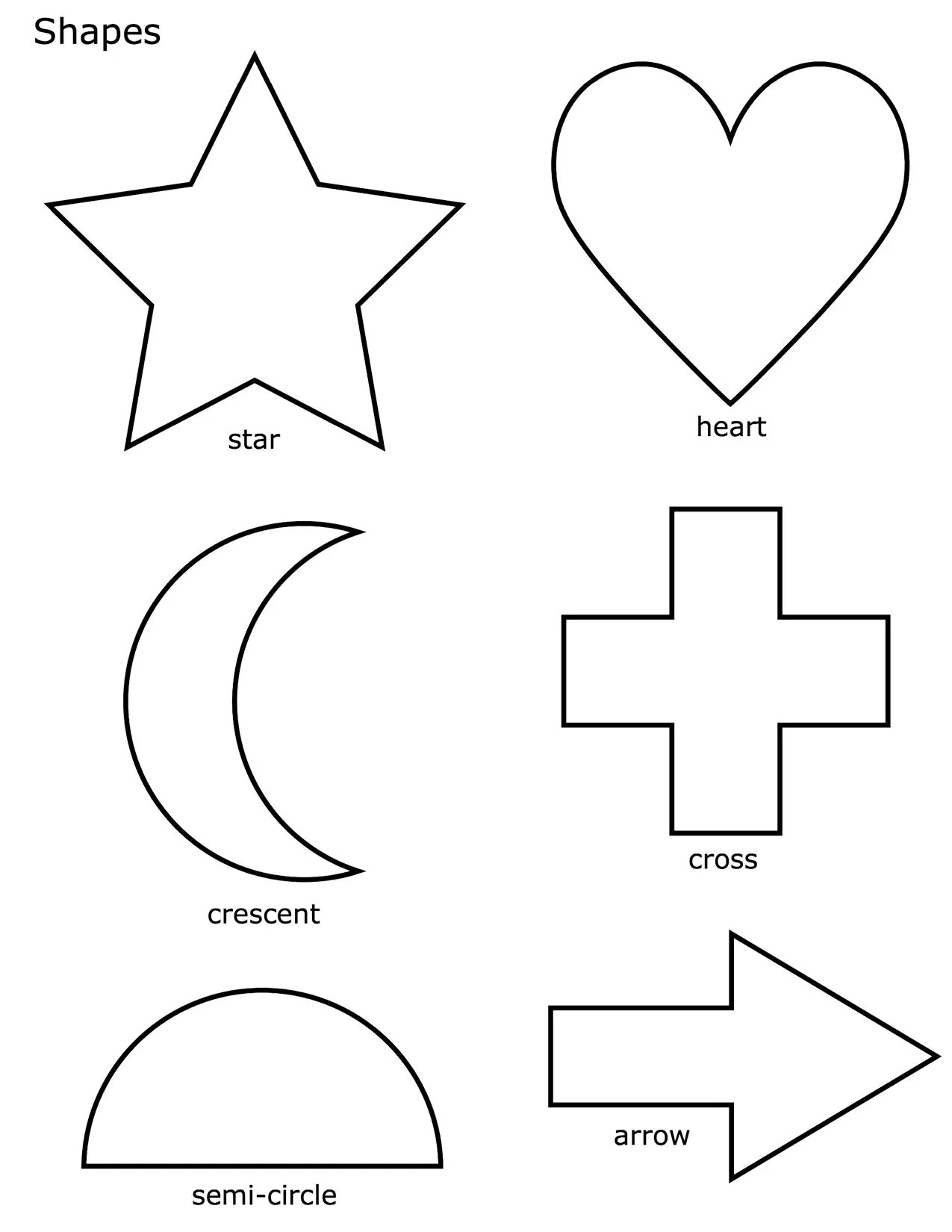 Free Basic Shapes Coloring Pages Printable Basic Shapes