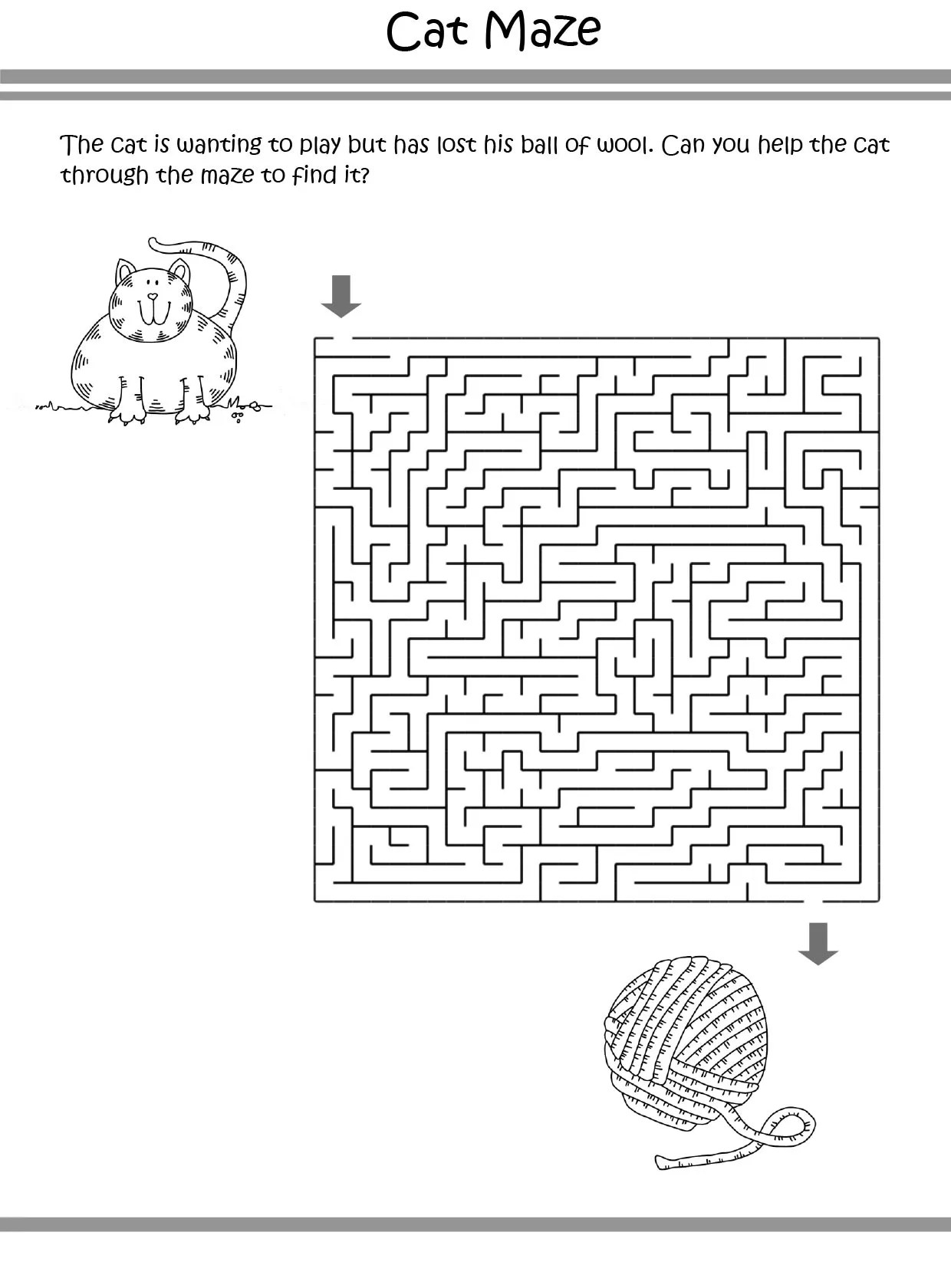 Free Amp Printable Cat Puzzle Coloring Picture Assignment