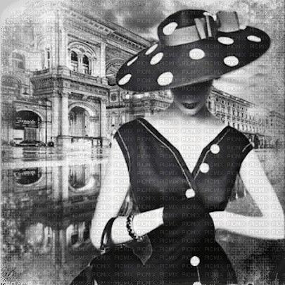 vintage woman bg b w femme noir blanc