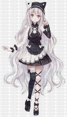 fille manga noire et blanche noir et